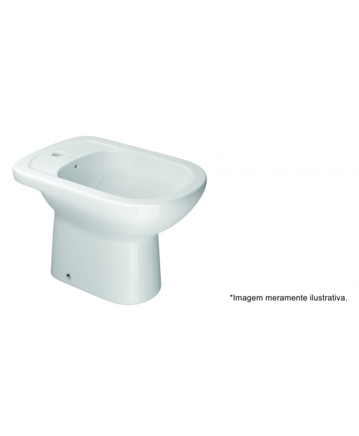 BIDÊ COM 1 FURO SEM DUCHA VERTICAL VOGUE PLUS - BRANCO